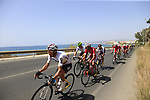 The peloton including Colombian National Champion Sergio Luis Henao (COL) Team Sky in full flight after the start of Stage 4 of the La Vuelta 2018, running 162km from Velez-Malaga to Alfacar, Sierra de la Alfaguara, Andalucia, Spain. 28th August 2018.<br /> Picture: Eoin Clarke   Cyclefile<br /> <br /> <br /> All photos usage must carry mandatory copyright credit (&copy; Cyclefile   Eoin Clarke)