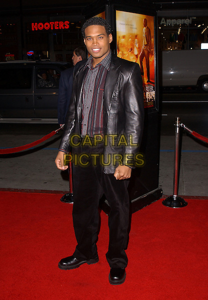 "TEXAS BATTLE.Paramount Pictures' L.A. Premiere of ""Coach Carter"" held at The Grauman's Chinese Theatre in Hollywood, California .January 13th, 2005 .full length, black leather jacket, black trousers.www.capitalpictures.com.sales@capitalpictures.com.Supplied By Capital PIctures"