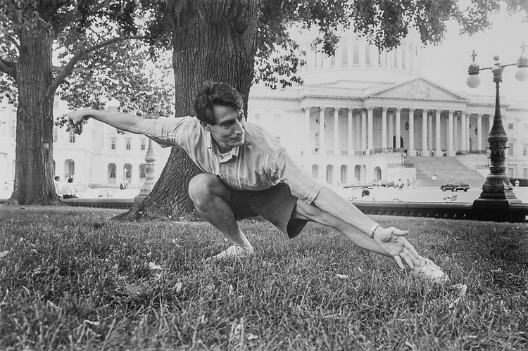 Dr. Dave, Tai Chi instructor on the East Frontof the Capitol on June 16, 1994. (Photo by Laura Patterson/CQ Roll Call via Getty Images)