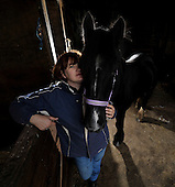 Horses notebook - Aileen Allan with Jack - picture by Donald MacLeod - 19.10.12 - 07702 319 738 - clanmacleod@btinternet.com - www.donald-macleod.com