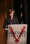 Sally Field during the stage presentation for the Vineyard Theatre 2016 Gala at the Edison Ballroom on March 14, 2016 in New York City.
