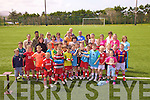 On Saturday last Iveragh United FC Junior Football Academy held the finals of their Blitz with Team A comprising of Jack O'Mahony, Shane O'Donoghue, Oisi?n Moran, Gavin Da Silva, Dara O'Shea(Cap), Kian Esmonde, Sonny Curran & Harvey Kavanagh taking the 'Johnny Boyle Memorial Cup', pictured here with club mates and parents.  The afternoon was followed with a 5Km sponsored walk and a Disco afterwards to end the 09/10 season.  Chairman Sean Coffey said he wished to thanks to all those who helped out during the year.