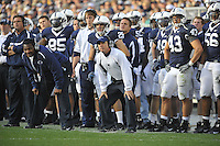 18 October 2008:  Penn State defensive line coach Larry Johnson, Sr. and defensive coordinator and acting head coach Tom Bradley..The Penn State Nittany Lions defeated the Michigan Wolverines 46-17 October 18, 2008 at Beaver Stadium in State College, PA..