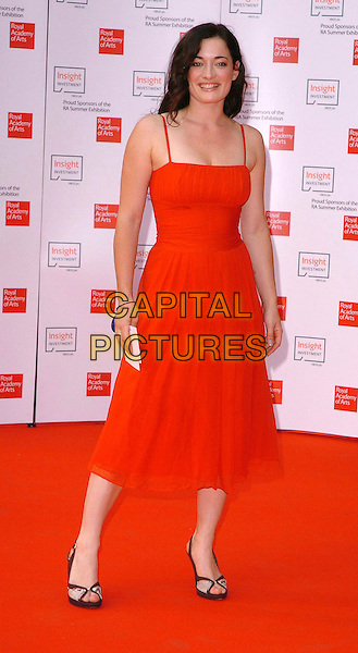 LAURA MICHELLE KELLY.The 2006 Summer Exhibition Preview Party at the Royal Academy in Piccadilly, London, UK..June 7th, 2006 .Ref: CAV.full length red dress.www.capitalpictures.com.sales@capitalpictures.com.© Capital Pictures.