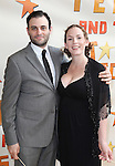 Arian Moayed & Krissy Shields.attending the Broadway Opening Night Performance of 'Peter And The Starcatcher' at the Brooks Atkinson Theatre on 4/15/2012 in New York City.