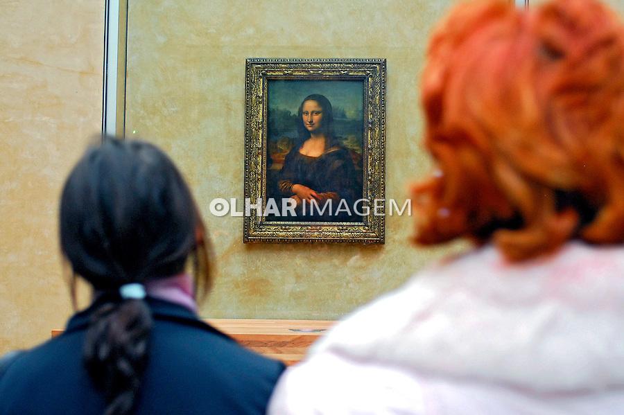 Quadro A Mona Lisa de Leonardo da Vinci no Museu do Louvre. Paris. França. 2007. Foto de Luciana Whitaker.
