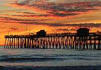 Sunset over San Clemente Pier