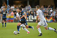 San Jose, CA - Saturday June 24, 2017: Jahmir Hyka during a Major League Soccer (MLS) match between the San Jose Earthquakes and Real Salt Lake at Avaya Stadium.
