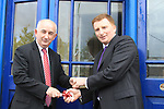 The Handing over of the keys to the old parocial House to the Dunleer community..Frank Pentony dept Co Manager and Tony Mallon. Picture Fran Caffrey www.newsfile.ie