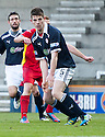 Raith's Dougie Hill who was sent off during the half time interval ...