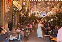 Europe/Turquie/Istanbul :  Restaurant dans le Passage aux fleurs çiçek pasaji dans le  Quartier Istiklal caddesi