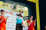 Alexis Gougeard (FRA) AG2R La Mondiale wins the day's combativity prize at the end of Stage 16 of the 2019 Tour de France running 177km from Nimes to Nimes, France. 23rd July 2019.<br /> Picture: ASO/Thomas Maheux | Cyclefile<br /> All photos usage must carry mandatory copyright credit (© Cyclefile | ASO/Thomas Maheux)