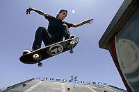 CARSON, CA. JULY 24, 2009: Abdias Rivera, a san Diego resident, an competitor in the 15th annual ESPN X Games during a practice session Thursday, July 29, 2009. X Games 15 will be hosted at the Staples Center in downtown Los Angeles and at the Home Depot Center in Carson, July 30th-August 2nd.