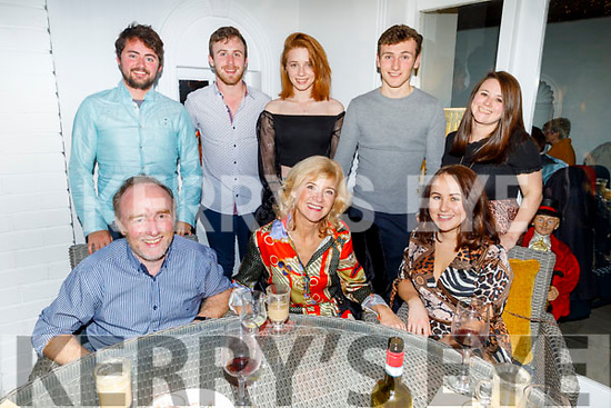 Double celebrations in the Gannon family from Clash East, 30th wedding anniversary and a birthday during the week and celebrating in Bella Bia on Saturday night.<br /> Seated l to r: Bernard, Geraldine and Siobhan Gannon.<br /> Back l to r: Luke McGahren, Liam Gannon, Maeve Dore, Sean and Criona Gannon