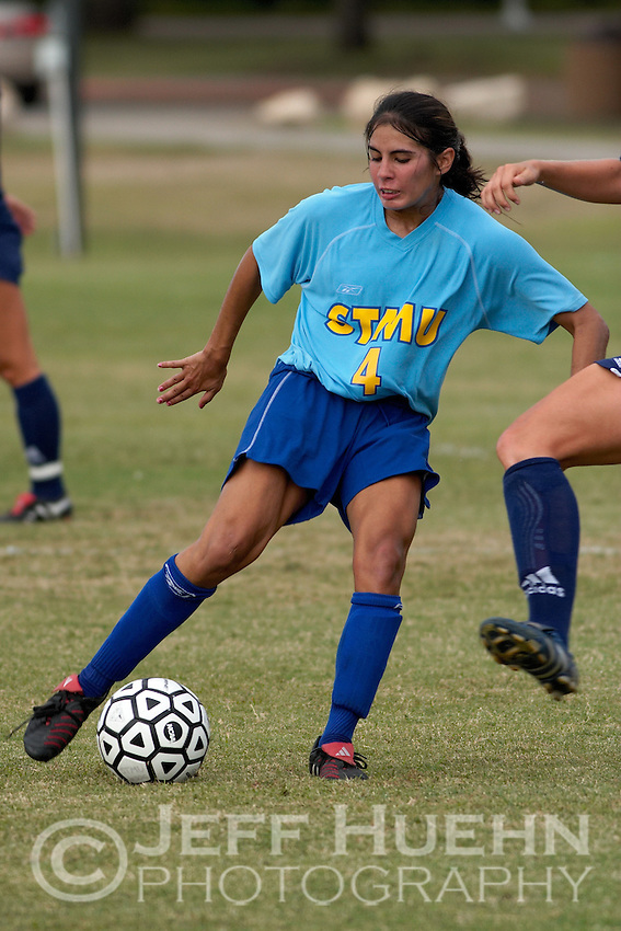 SAN ANTONIO, TX - OCTOBER 12, 2005: The St. Edward's University Hilltoppers vs. the St. Mary's University Rattlers Women's Soccer at the St. Mary's Soccer Field. (Photo by Jeff Huehn)