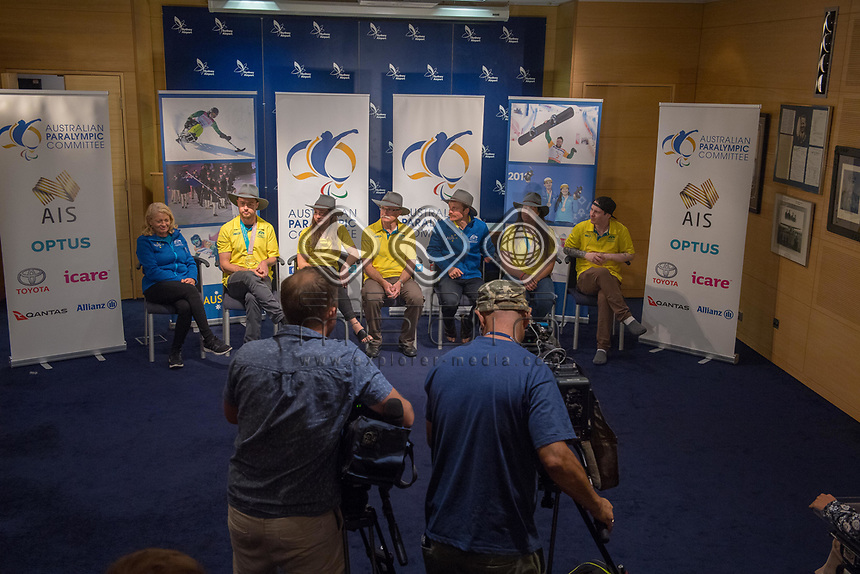 Welcome home / Press Conference<br /> PyeongChang 2018 Paralympic Games<br /> Australian Paralympic Committee<br /> Sydney International Airport<br /> PyeongChang South Korea<br /> Tuesday March 20th 2018<br /> &copy; Sport the library / Jeff Crow