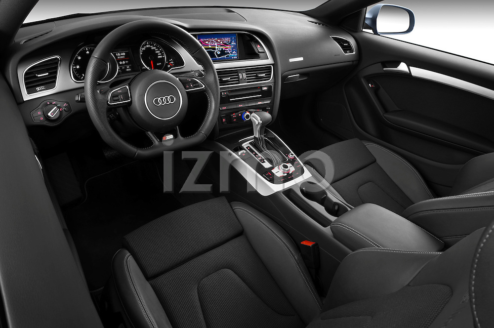 High angle dashboard view of 2012 Audi A5 S Line Coupe
