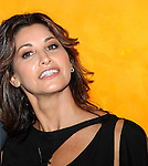 Gina Gershon backstage at 'TimesTalks: Stage To Screen' with David CarrNew York City on 7/24/2012.