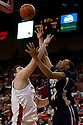 01 December 2010: Jackson State forward Grant Maxey (32) gets one by Nebraska center Andre Almeida (32) for two points in the second half at the Devaney Sports Center in Lincoln, Nebraska. Nebraska defeated Jackson State 76 to 57.