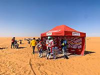 12th January 2020, Riyadh, Saudi Arabia;  27 Rodrigues Joaquim (prt), Hero, Hero Motorsports Team Rally,  Bike, refuelling during Stage 7 of the Dakar 2020 between Riyadh and Wadi Al-Dawasir, 741 km - SS 546 km, in Saudi Arabia  - Editorial Use