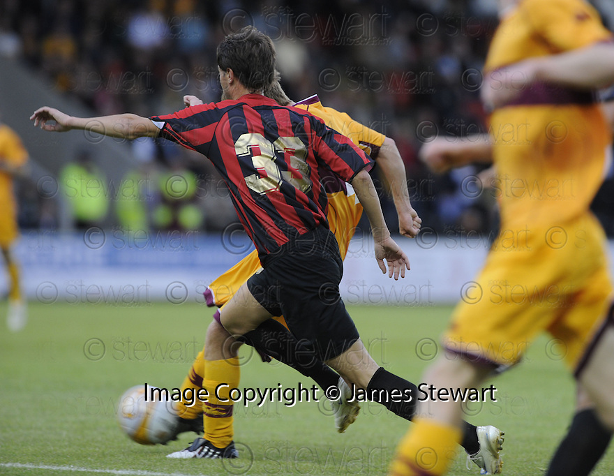 23/07/2009  Copyright  Pic : James Stewart.sct_05_motherwell_v_flamurtari  .PAUL SLANE SCORES THE THIRD.James Stewart Photography 19 Carronlea Drive, Falkirk. FK2 8DN      Vat Reg No. 607 6932 25.Telephone      : +44 (0)1324 570291 .Mobile              : +44 (0)7721 416997.E-mail  :  jim@jspa.co.uk.If you require further information then contact Jim Stewart on any of the numbers above.........