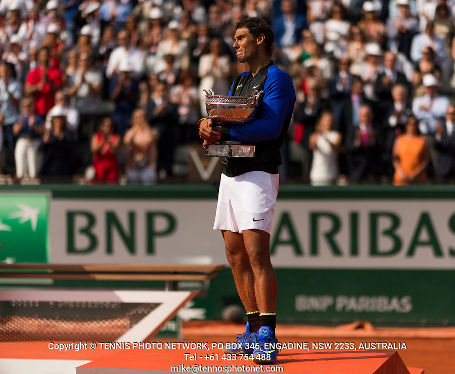 RAFAEL NADAL (ESP)<br /> <br /> TENNIS - FRENCH OPEN - ROLAND GARROS - ATP - WTA - ITF - GRAND SLAM - CHAMPIONSHIPS - PARIS - FRANCE - 2017  <br /> <br /> <br /> <br /> &copy; TENNIS PHOTO NETWORK