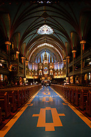 Montreal QC CANADA - May 10 2009- <br /> Notre-Dame Basilica s one of Old- Montreal major tourist attraction