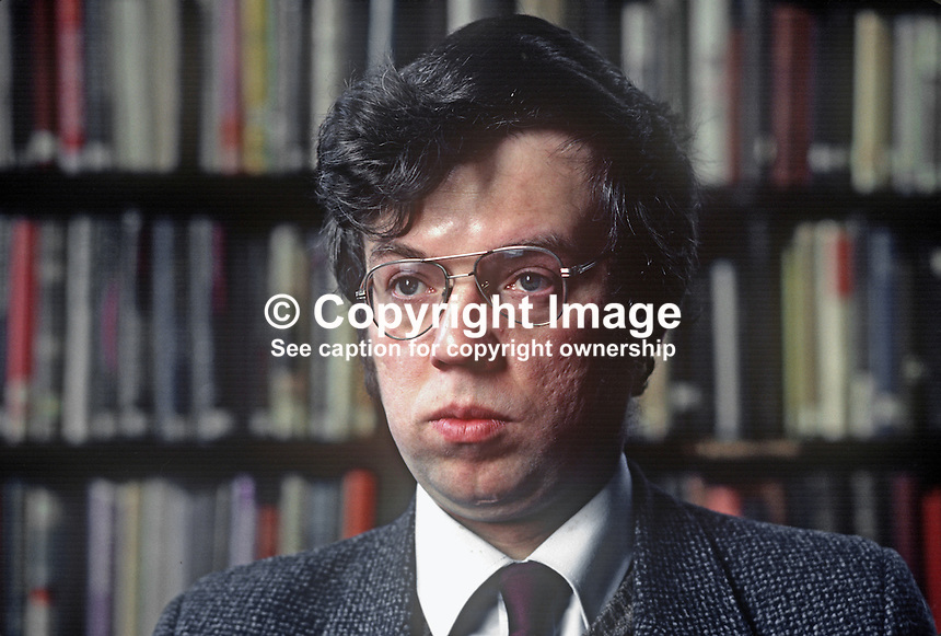 John Gray, librarian, Linenhall Library, Belfast, N Ireland, 198201006JG1.<br />