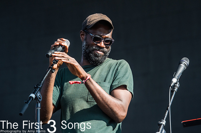 Tunde Adebimpe of TV on the Radio performs at the 2nd Annual BottleRock Napa Festival at Napa Valley Expo in Napa, California.