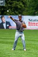 Quad Cities River Bandits shortstop Jonathan Arauz (22) during a Midwest League game against the Beloit Snappers on June 18, 2017 at Pohlman Field in Beloit, Wisconsin.  Quad Cities defeated Beloit 5-3. (Brad Krause/Krause Sports Photography)