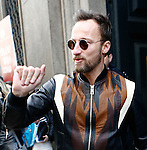 Francesco Facchinetti at the entrance of the Blugirl fashion show as part of the Milan Fashion Week Men's wear Fall/Winter 2015/2016, in Milan on February 26, 2015.