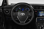 Car pictures of steering wheel view of a 2018 Toyota Auris Touring Sports Lounge 5 Door Wagon