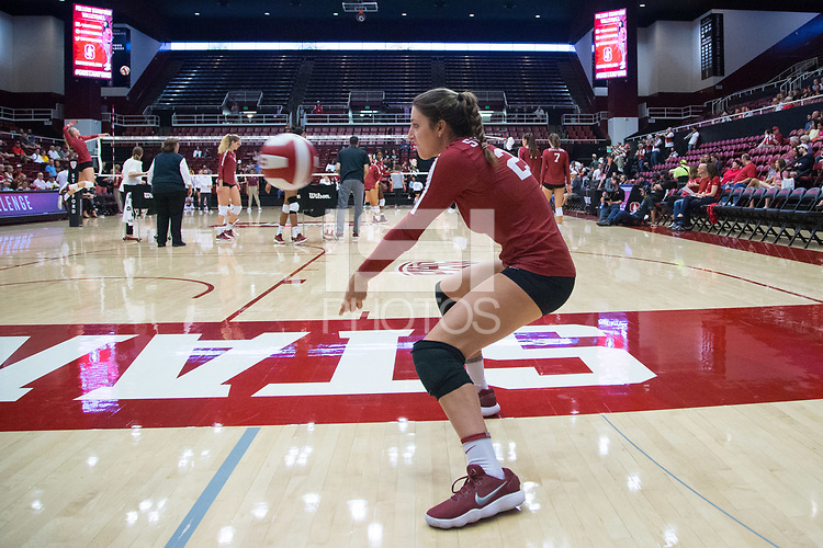 STANFORD, CA - September 9, 2018: Caitlin Keefe at Maples Pavilion. The Stanford Cardinal defeated #1 ranked Minnesota 3-1 in the Big Ten / PAC-12 Challenge.