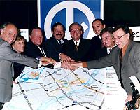 laval - Nov 1998 - Guy Chevrette, ?, Bernard Landry, Brassard, Gilles vaillancoirt,Joseph Facal,Serge Menard,STCUM