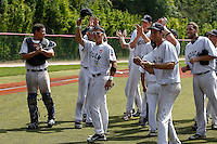 19 August 2012: The Rouen Huskies celebrate following the 12-8 win over Senart, during game 4 of the French championship finals, in Rouen, France. The Rouen Huskies win their 9th title in 10 years.
