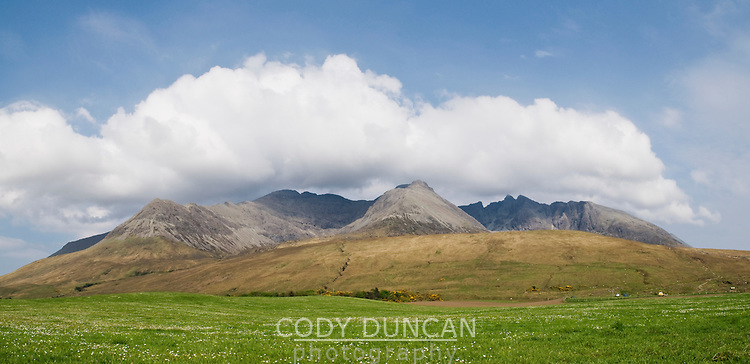 Black Cuillin mountains viewed from Glenbrittle, Isle of Skye, Scotland