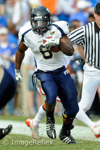 21 November 2009:  FIU running back Daunte Owens (8) carries the ball in the second half as the University of Florida Gators defeated the FIU Golden Panthers, 62-3, at Ben Hill Griffin Stadium in Gainesville, Florida.