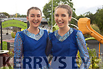 Aoife O'Donoghue and Laura Fleming set dancers from Spa, Killarney at the Fleadh Cheoil Chiarraí in Milltown on Friday.