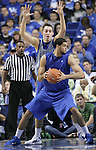 UK Senior forward Eloy Vargas is guarded by freshman Kyle Wiltjer during the first half of the UK Blue-White Scrimmage at Rupp Arena in Lexington, Ky., Oct. 26, 2011. Photo by Brandon Goodwin | Staff