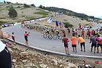 World Champion Alejandro Valverde (ESP) Movistar Team and Primoz Roglic (SLO) Team Jumbo-Visma on the final Cat 1 climb up to Observatorio Astrofisico de Javalambre during Stage 5 of La Vuelta 2019 running 170.7km from L'Eliana to Observatorio Astrofisico de Javalambre, Spain. 28th August 2019.<br /> Picture: Ann Clarke | Cyclefile<br /> <br /> All photos usage must carry mandatory copyright credit (© Cyclefile | Ann Clarke)