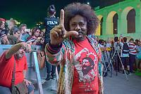 RIO DE JANEIRO, RJ, 28.07.2018 - LULA-LIVRE - Chico César durante Festival Lula Livre na Lapa, centro do Rio de Janeiro neste sábado, 28.(Foto: Clever Felix/Brazil Photo Press)