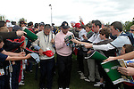 Ryder Cup...Jose Maria Olazabal signs autographs at the above between the 16th green and 17th tee of the Palmer Course at the K CLub..Photo: Eoin Clarke/ Newsfile.