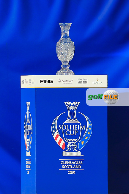 The Solheim Cup during the Opening Ceremony of the Solheim Cup 2019 at Gleneagles Golf CLub, Auchterarder, Perthshire, Scotland. 12/09/2019.<br /> Picture Thos Caffrey / Golffile.ie<br /> <br /> All photo usage must carry mandatory copyright credit (© Golffile | Thos Caffrey)
