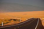 Trucks travel over US 95 in central Nevada