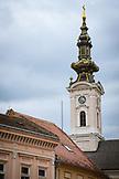 SERBIA, Novi Sad, Church steeple in Novi Sad, Eastern Europe