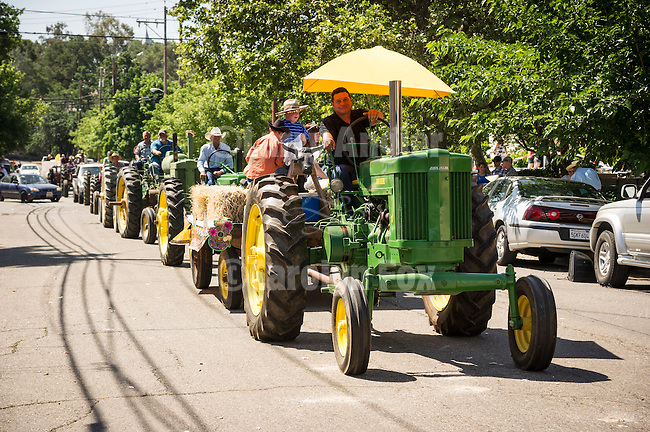 137th annual Ione Homecoming Parade, Rancheros and Sombreros theme, downtown Main St., Ione, Calif...Tractors