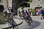 The breakaway group pass through the medieval village of Salles Sous Bois during the penultimate Stage 19 to Mont Ventoux during the Tour de France 2009 running 167km from Montelimar to Mont Ventoux, France. 25th July 2009 (Photo by Eoin Clarke/NEWSFILE)