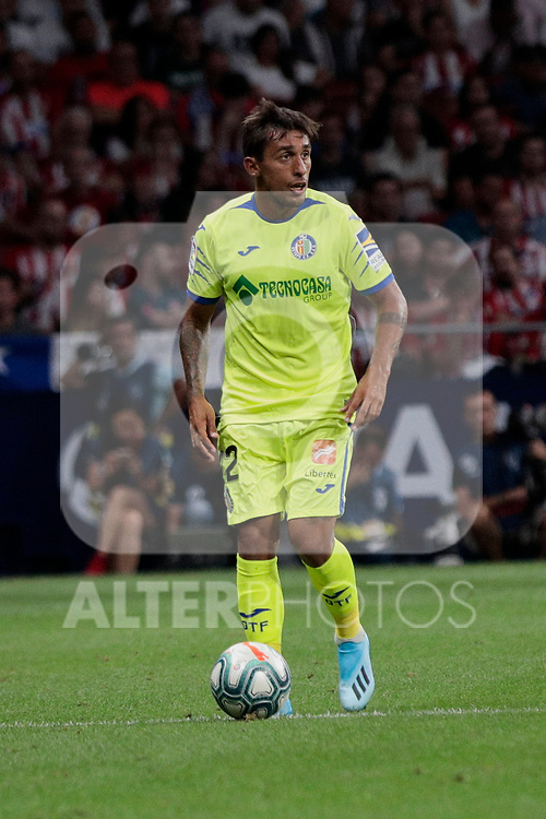 Getafe CF's Damian Suarez during La Liga match between Atletico de Madrid and Getafe CF at Wanda Metropolitano Stadium in Madrid, Spain. August 18, 2019. (ALTERPHOTOS/A. Perez Meca)