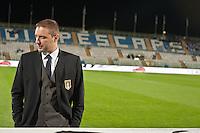 PESCARA (PE) 12/10/2012: QUALIFICAZIONE EUROPEI UNDER 21 ITALIA - SVEZIA. PARTITA VINTA DALL'ITALIA CON UN GOAL DI IMMOBILE. NELLA FOTO L'ALLENATORE DELL'ITALIA MANGIA.  FOTO ADAMO DI LORETO