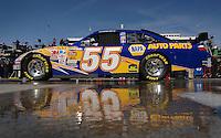 Mar 31, 2007; Martinsville, VA, USA; Nascar Nextel Cup Series driver Michael Waltrip (55) during practice for the Goody's Cool Orange 500 at Martinsville Speedway. Martinsville marks the second race for the new car of tomorrow. Mandatory Credit: Mark J. Rebilas.